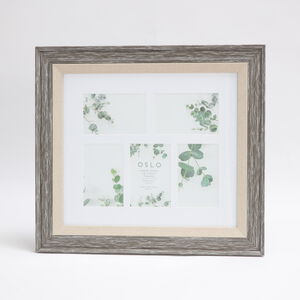 Oslo Aged Grey  5 Pane Photo Frame