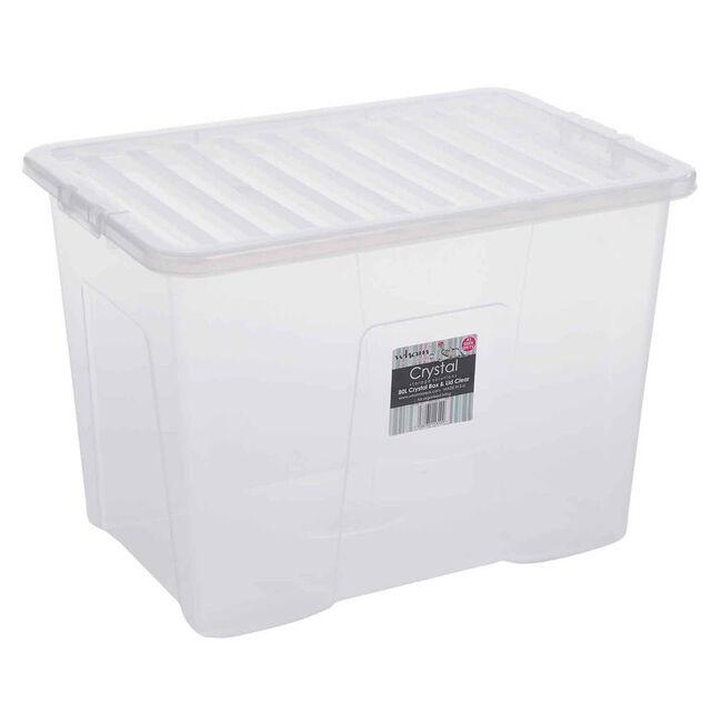 Crystal Box & Lid Clear 80L