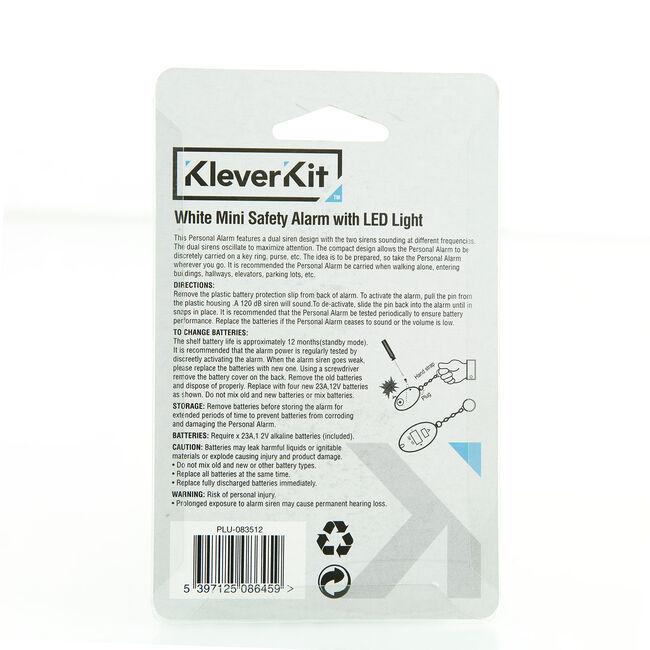 Kleverkit White Mini Safe Alarm