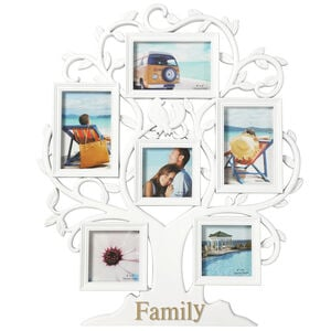 Family Tree White Photoframe