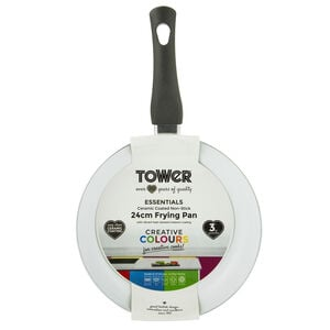 Tower Ceramic Black Frying Pan 24cm