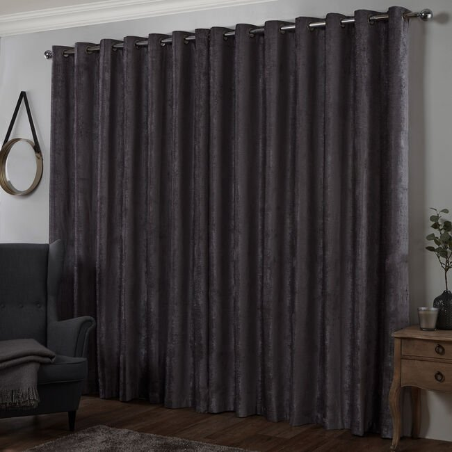 BLACKOUT & THERMAL TEXTURED SLATE 66x72 Curtain