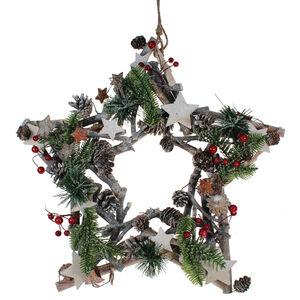 Traditional Christmas Star Wreath