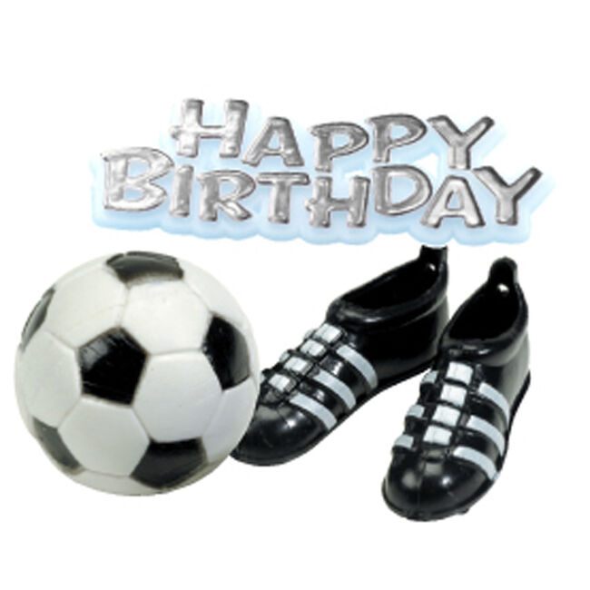 Happy Birthday, Ball & Boots Cake Topper