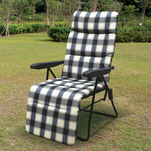Padded Check Relaxing Chair