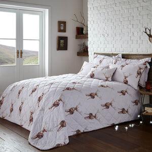 Checkered Stripe Berry Bedspread 200cm x 220cm