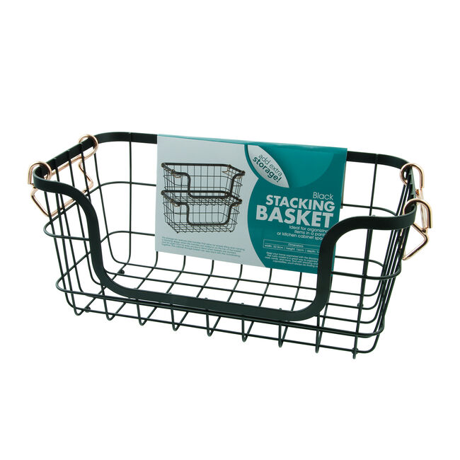 Stacking Basket - Black