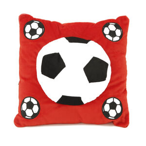 Football Cushion Red 40cm x 40cm