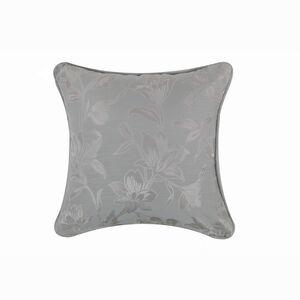Floral Jacquard Duck Egg 45x45 Cushion