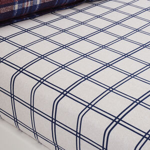 Brushed Cotton Gavin Check Fitted Sheet