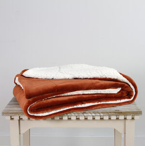 Ruane Mink Sherpa Terra Throw