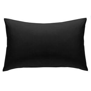 Luxury Percale Black Housewife Pillowcase Pair
