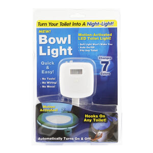 LED Motion Activated Toilet Bowl Light