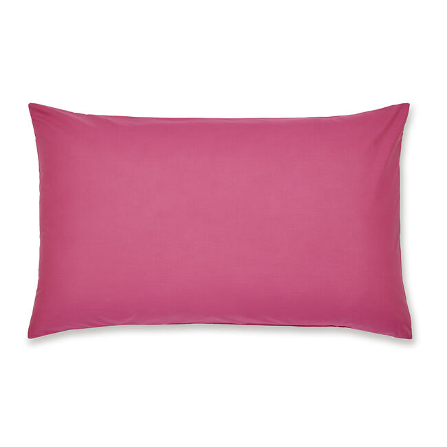 Luxury Percale Housewife Pillowcase Pair - Hot Pink