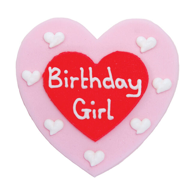 Birthday Girl Plaque Cake Toppers