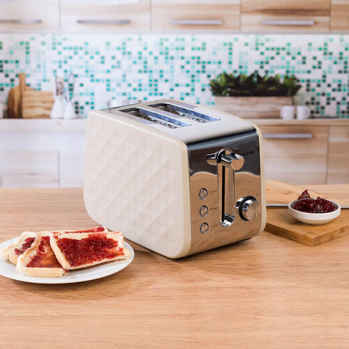Salter Naturals Diamond 2 Slice Toaster - Grey