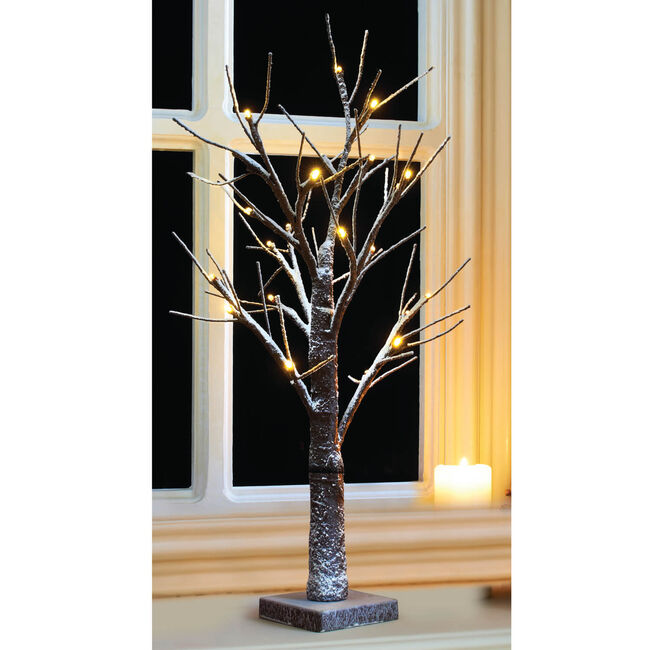 Snowy Twig Tree With 24 LEDs