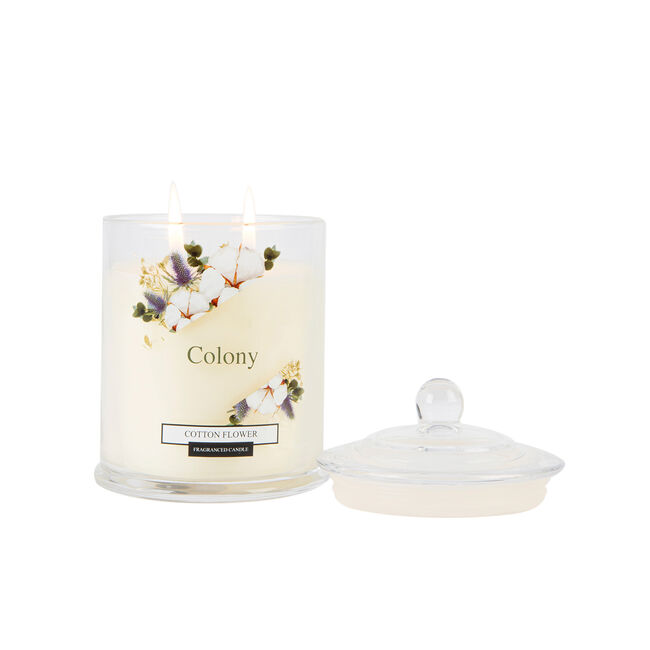 Colony Cotton Flower Candle 12.6oz