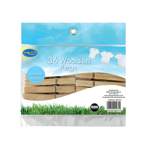 Wooden Pegs 48 Pack