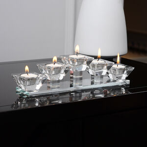 Cashel Living Crystal 5 Tealight Holders