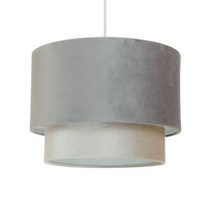 Grey Double Tiered Shade