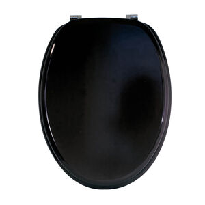 Slow Close Black Toilet Seat Sabichi