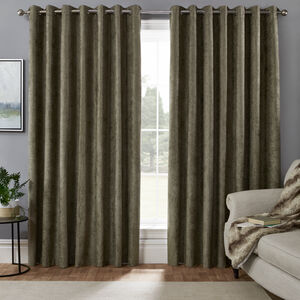 BLACKOUT & THERMAL HERRINGBONE GREEN 66x54 Curtain