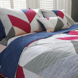 Urban Arrow Navy/Berry Bedspread 200cm x 220cm