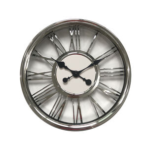 Chrome Numerals Clock 18""