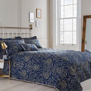 Antoinette Navy Bedspread