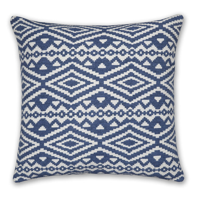 Aztec Cushion 58x58cm - Blue