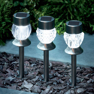 Crystal Acrylic S/S Solar Stake Light