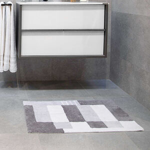 Boxes Grey Bath Mat 50 x 80cm