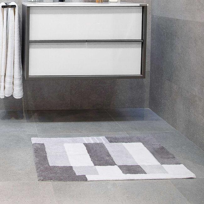 Boxes Grey Bath Mat 50 x 80cm