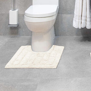 Cotton Brick Pedestal Mat Cream