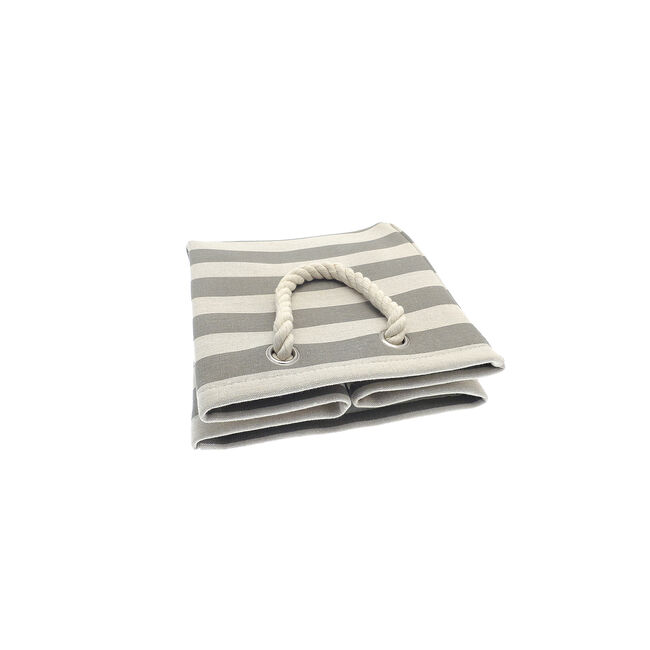 Striped Collapsible Storage Bag