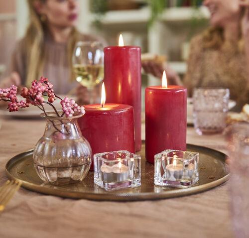 Bolsius Red Pillar Candle 15cm x 8cm