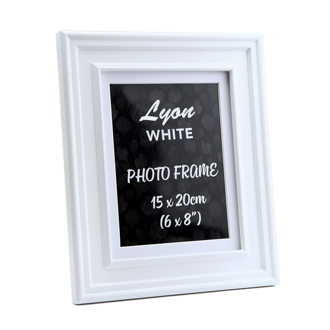 Lyon White Photo Frame 6x8""