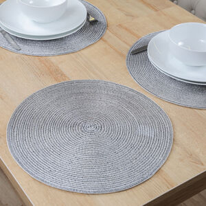 Round Shimmer Silver Placemat