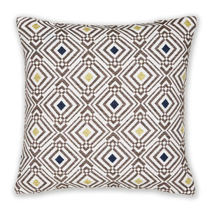 Sarmates Navy/Green Cushion 58cm x 58cm