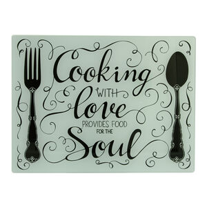 Cooking With Love Glass Worktop Saver