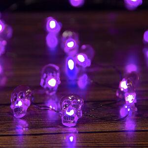 Halloween 20 Purple Skull Lights