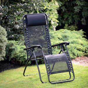 Zero Gravity Black Relaxing Garden Chair
