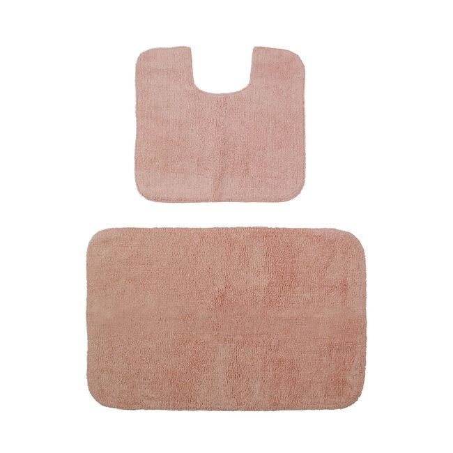 Cotton Plain Dye Peach Bathroom Set 2Pce