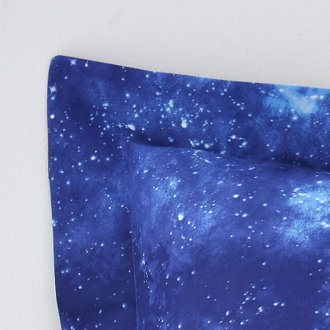 Space Travel Oxford Pillowcase Pair - Navy