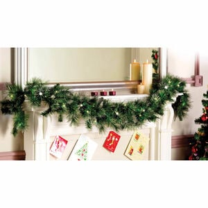 Christmas Garland with Glitter Tips 180cm