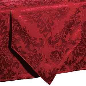 Textured Damask Red Table Runner