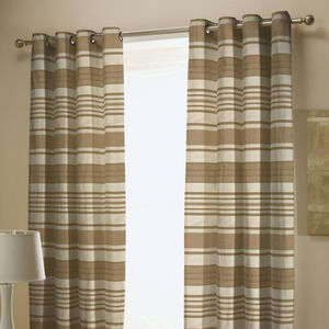 CHENILLE STRIPE NATURAL 66x54 Curtain