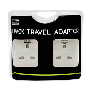 Stylectrix Travel Adaptor 2 Pack