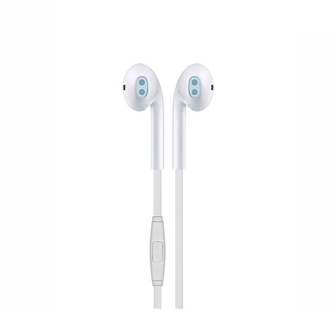 Budi White Earphones With Microphone